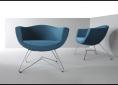 niebieskie fotele do recepcji
