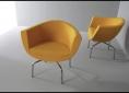 żółte fotele do recepcji