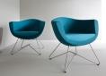 fotele do poczekalni niebieskie