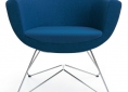 fotel do poczekalni niebieski