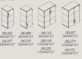 rysunki-techniczne-j_system-2-3-polki-szafy-drzwi-zwykle-szklane