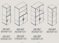 rysunki-techniczne-j_system-4-polki-szafy-drzwi-zwykle-szklane