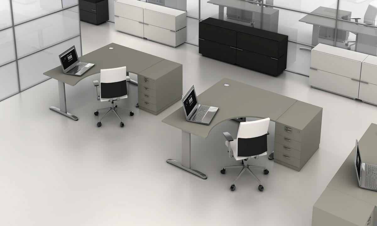 biurka pracownicze w open-space z kolekcji PROXY