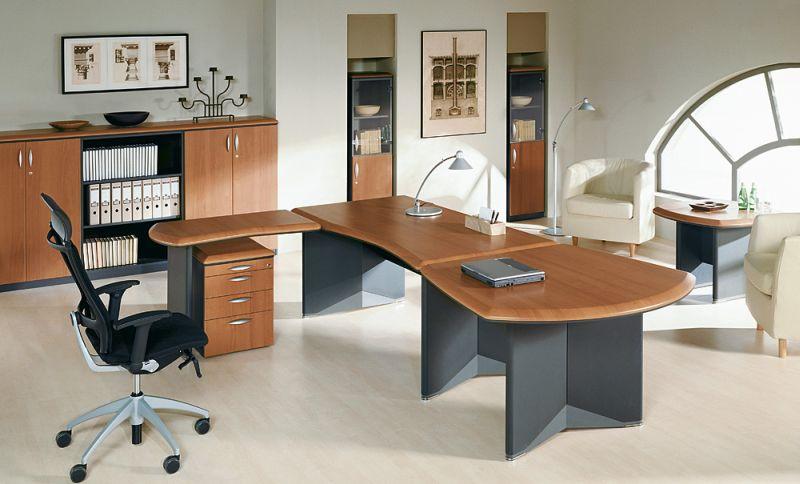 biurko gabinetowe w zestawie