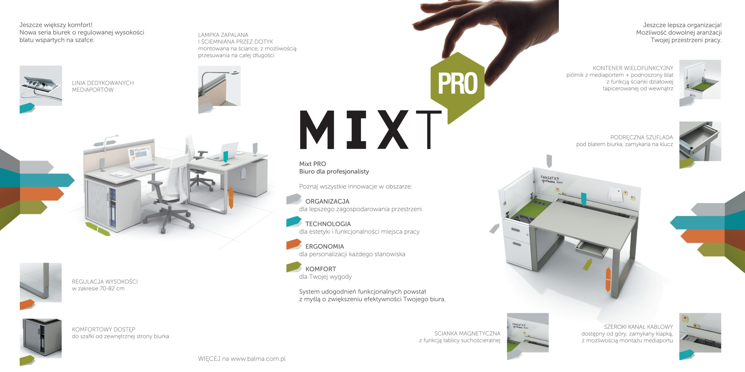 mixt pro ulotka ergonomia biurka