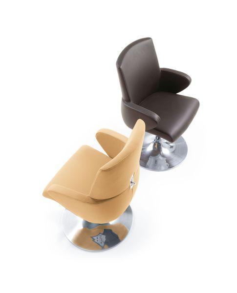 format fotele konferencyjne na okrągłej bazie chromowanej
