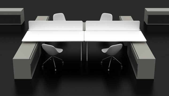 meble modulowe simplic stanowiska pracownicze