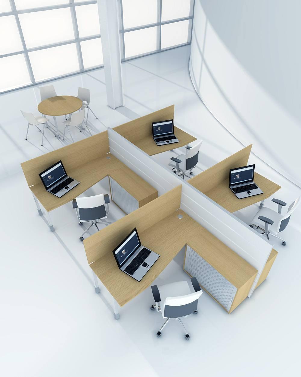 biurka narozne do biura open space